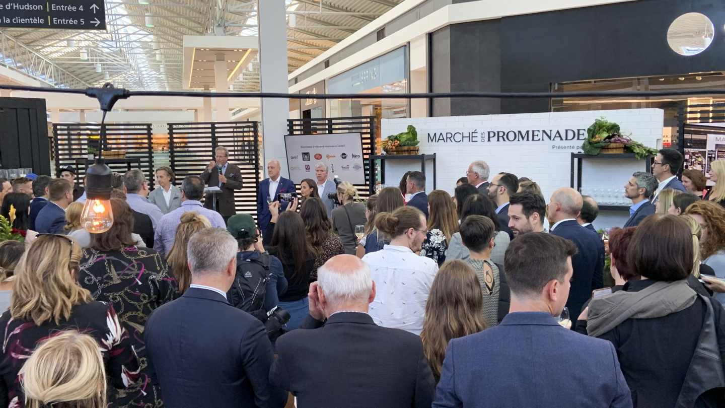 Launch event of the future Marché des Promenades of St-Bruno