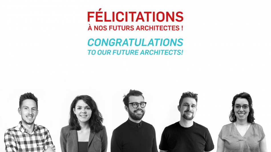 Congratulations to our future architects !
