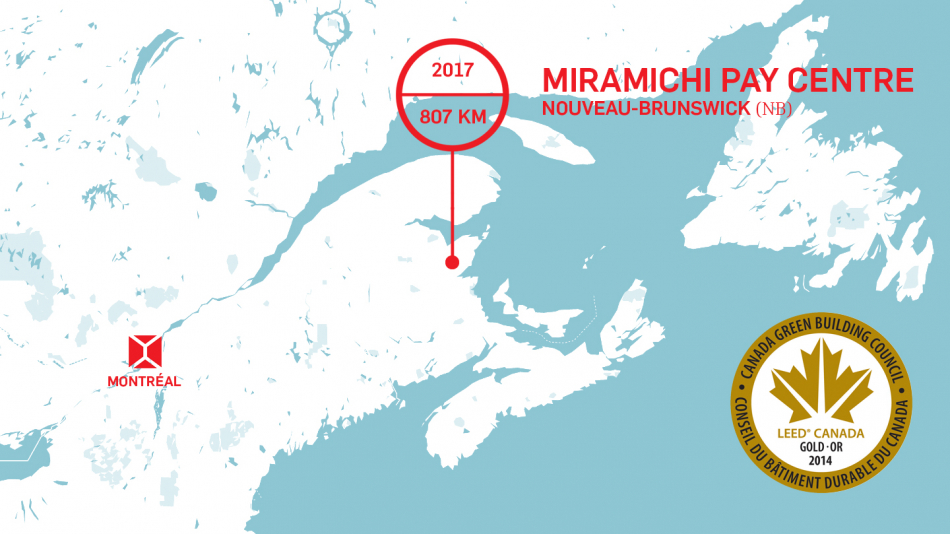 Miramichi Pay Center awarded a LEED Gold rating